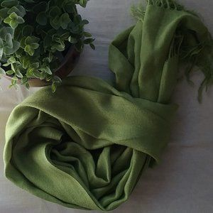 Scarf Wool Blend Pear Green. Free with order!